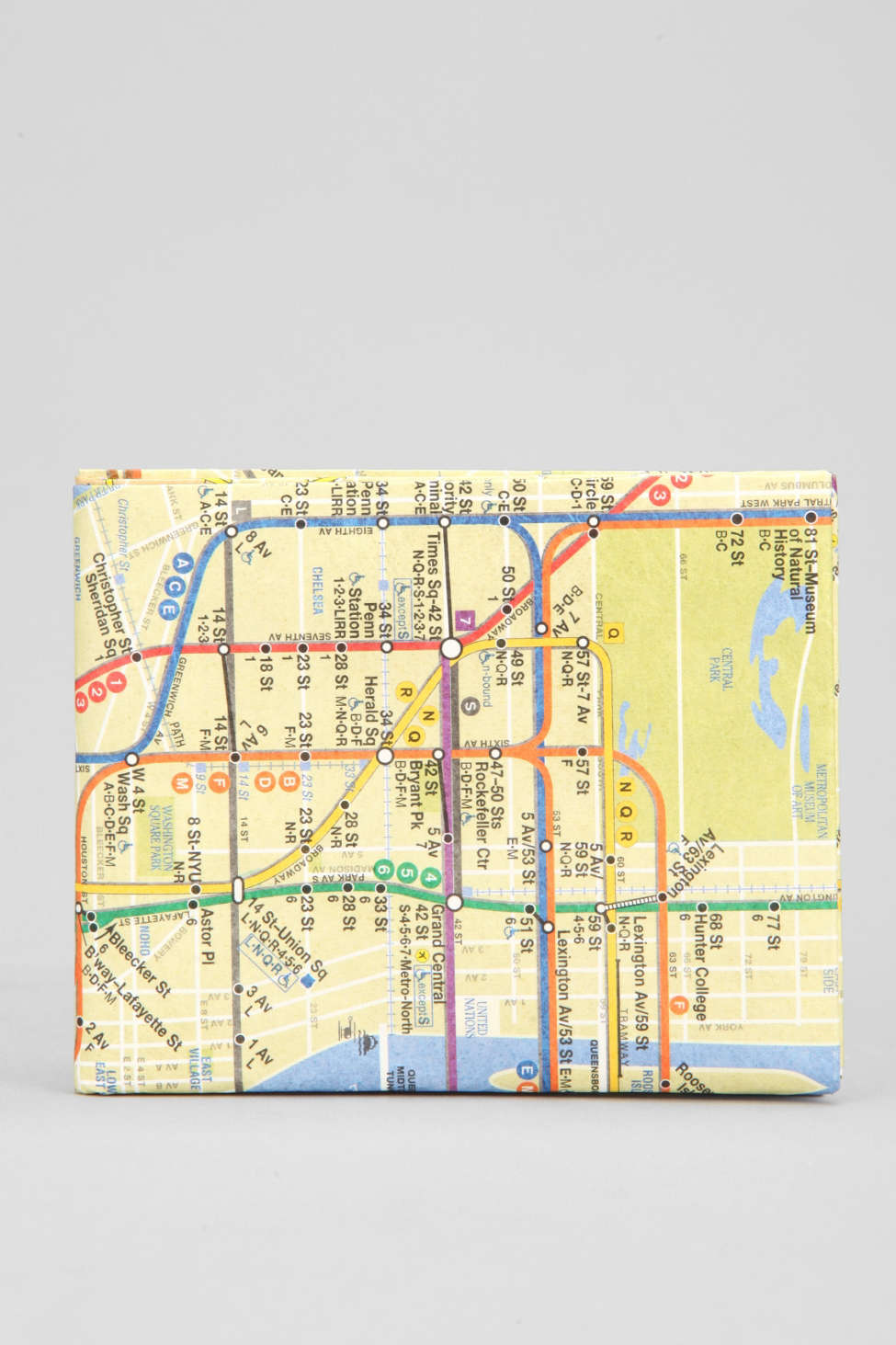 Dynomighty Nyc Subway Map Wallet Urban Outfitters