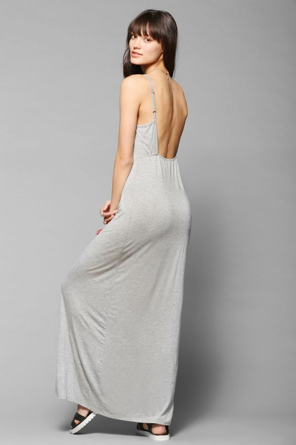 Staring At Stars Knit Open Back Maxi Dress Urban Outfitters