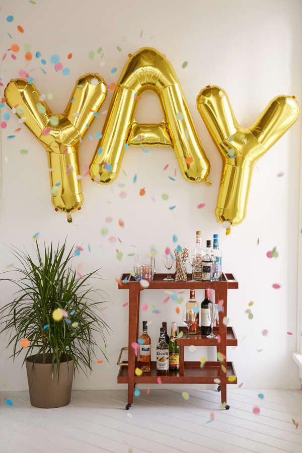 Gold Letter Party Balloon