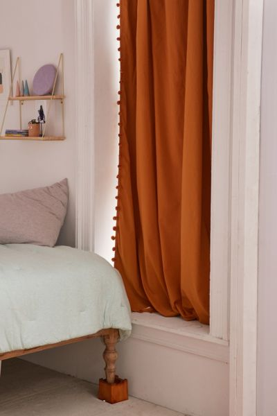 Blackout Pompom Curtain - Honey 84