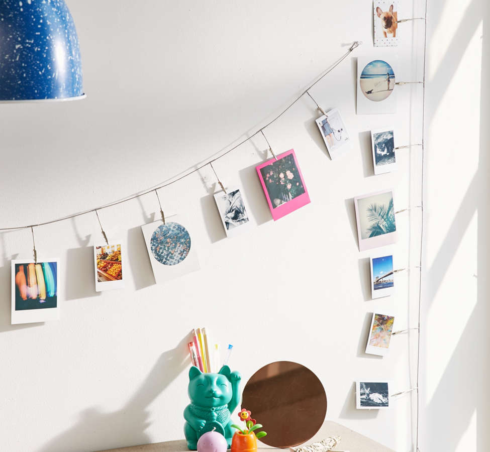 Slide View: 1: Metal Photo Clips String Set
