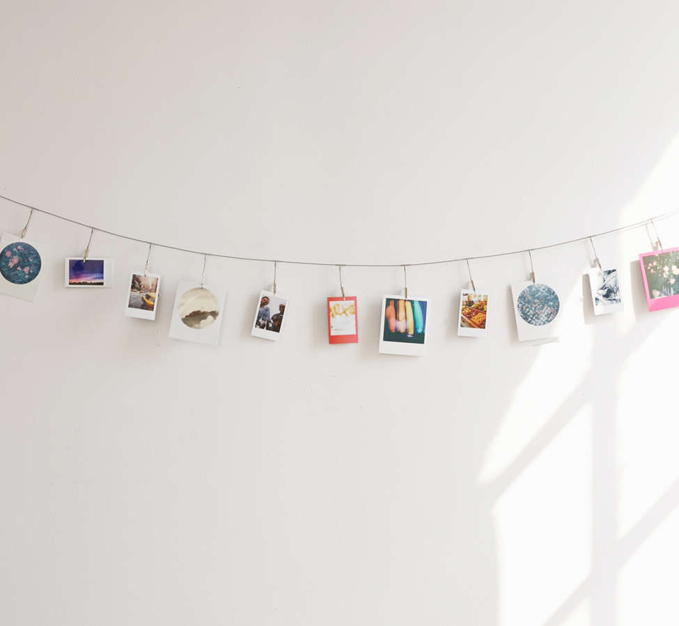 Slide View: 2: Metal Photo Clips String Set