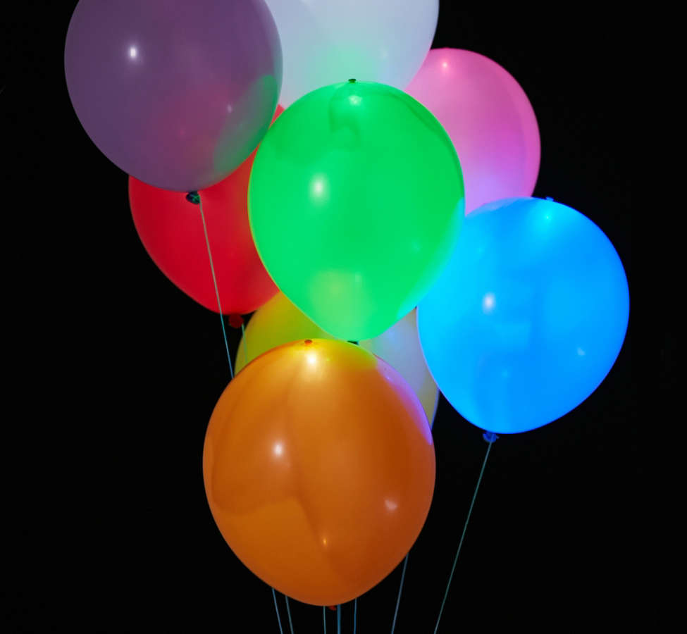 Slide View: 1: Colorful Light-Up LED Balloon 15-Pack Set