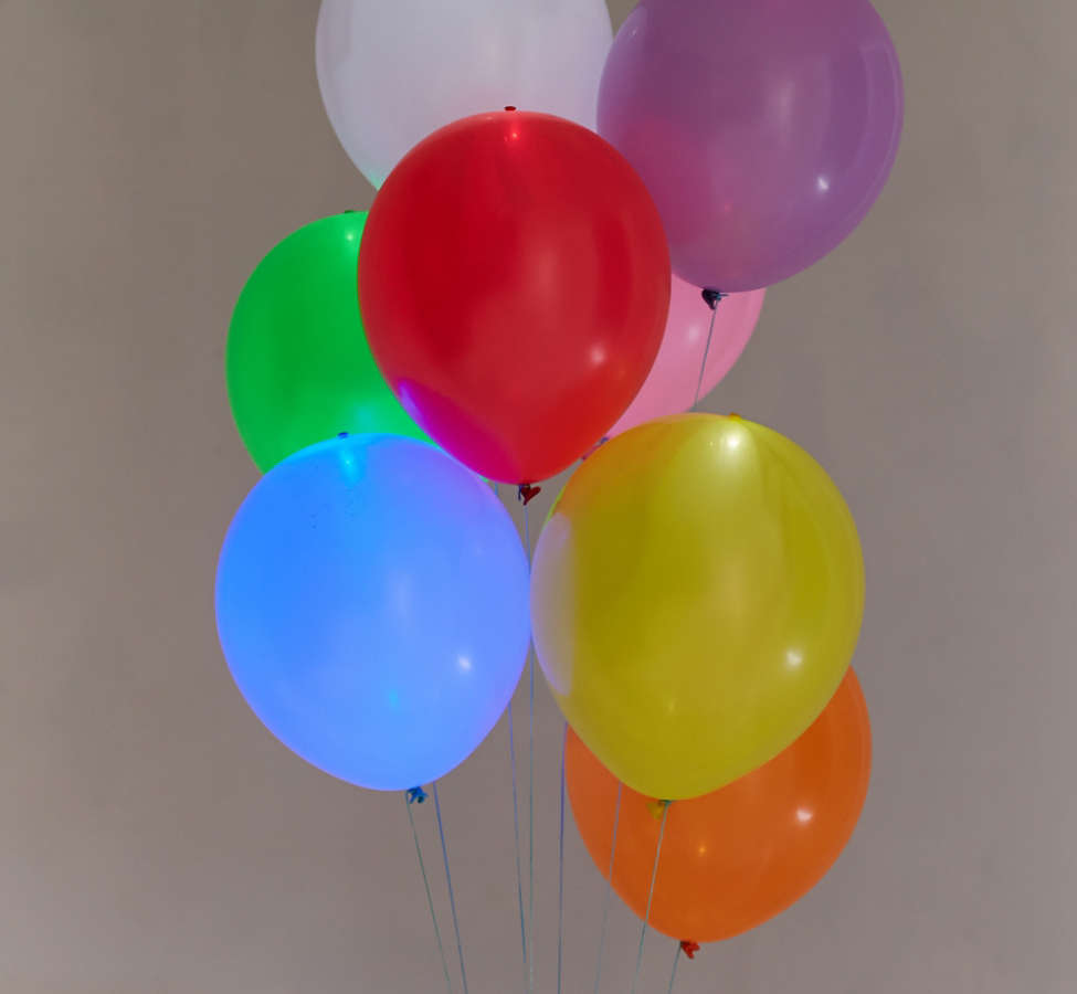Slide View: 2: Colorful Light-Up LED Balloon 15-Pack Set