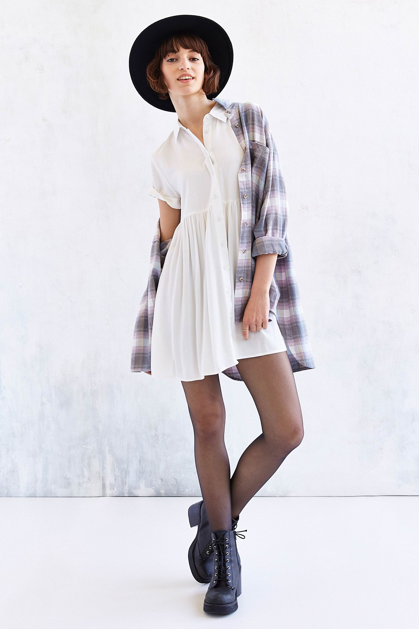 Bdg Babydoll Shirtdress Urban Outfitters