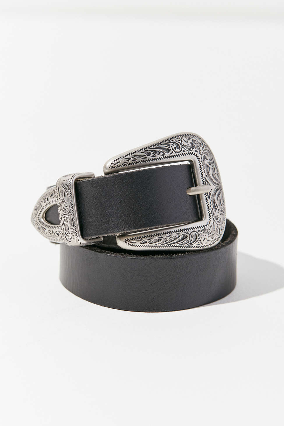 Slide View: 2: Ecote Metal-Tipped Leather Belt