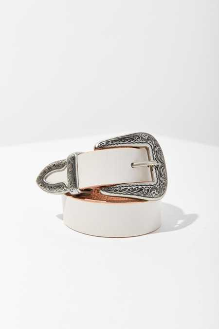 Ecote Metal-Tipped Leather Belt