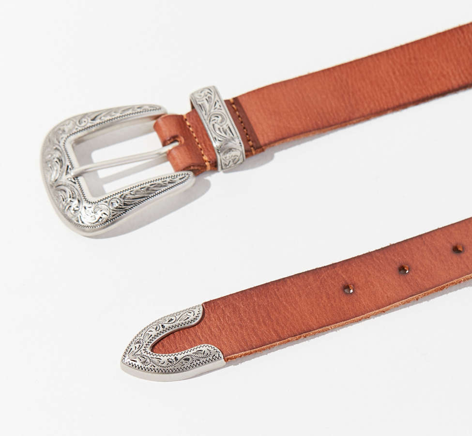 Slide View: 3: Ecote Metal-Tipped Leather Belt