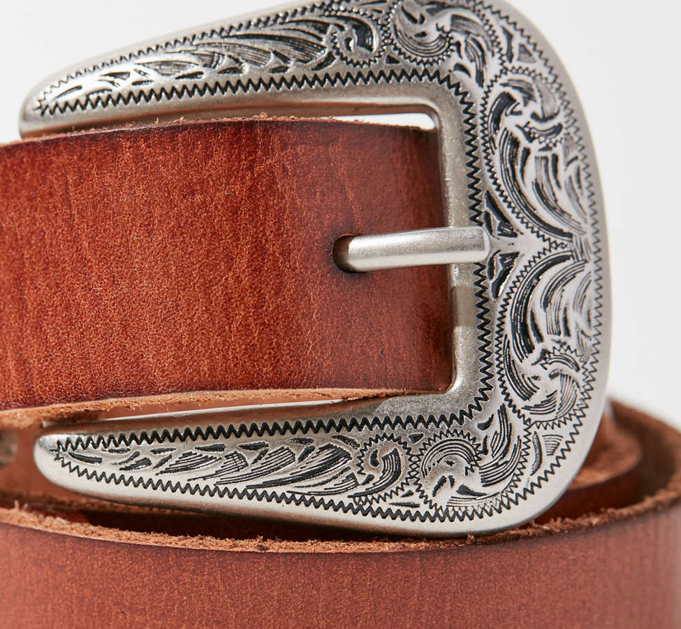 Slide View: 4: Ecote Metal-Tipped Leather Belt
