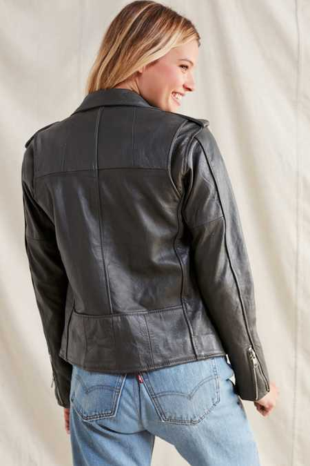 Slide View: 3: PeleCheCoco Leather Moto Jacket