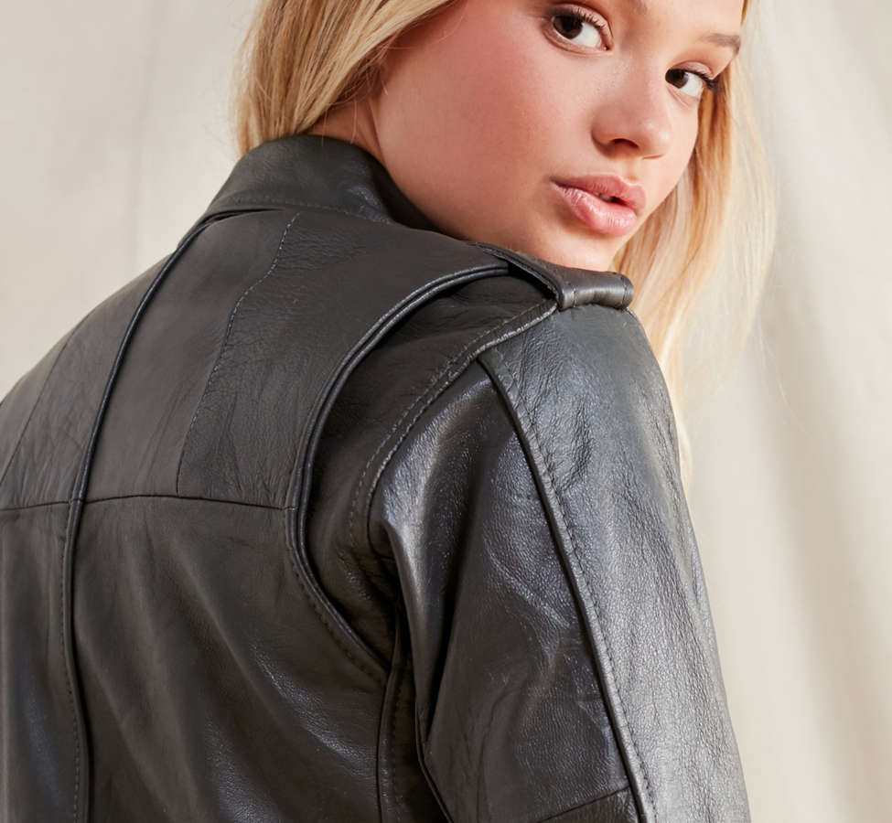Slide View: 6: PeleCheCoco Leather Moto Jacket