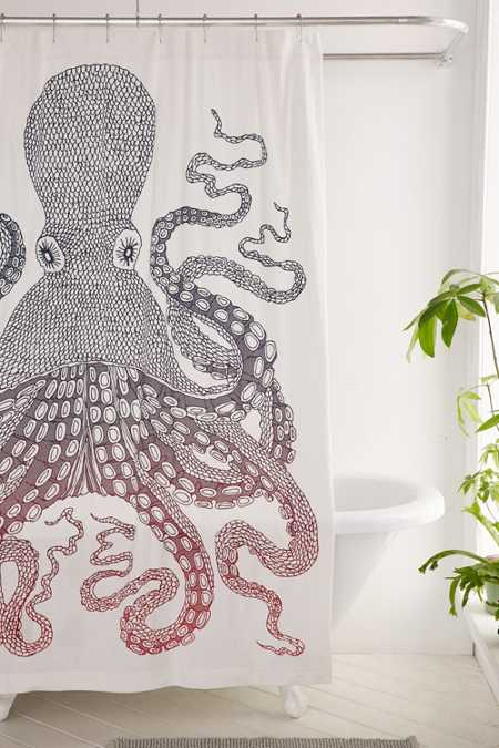 octopus shower curtain urban outfitters shower curtains bathroom curtains outfitters 140