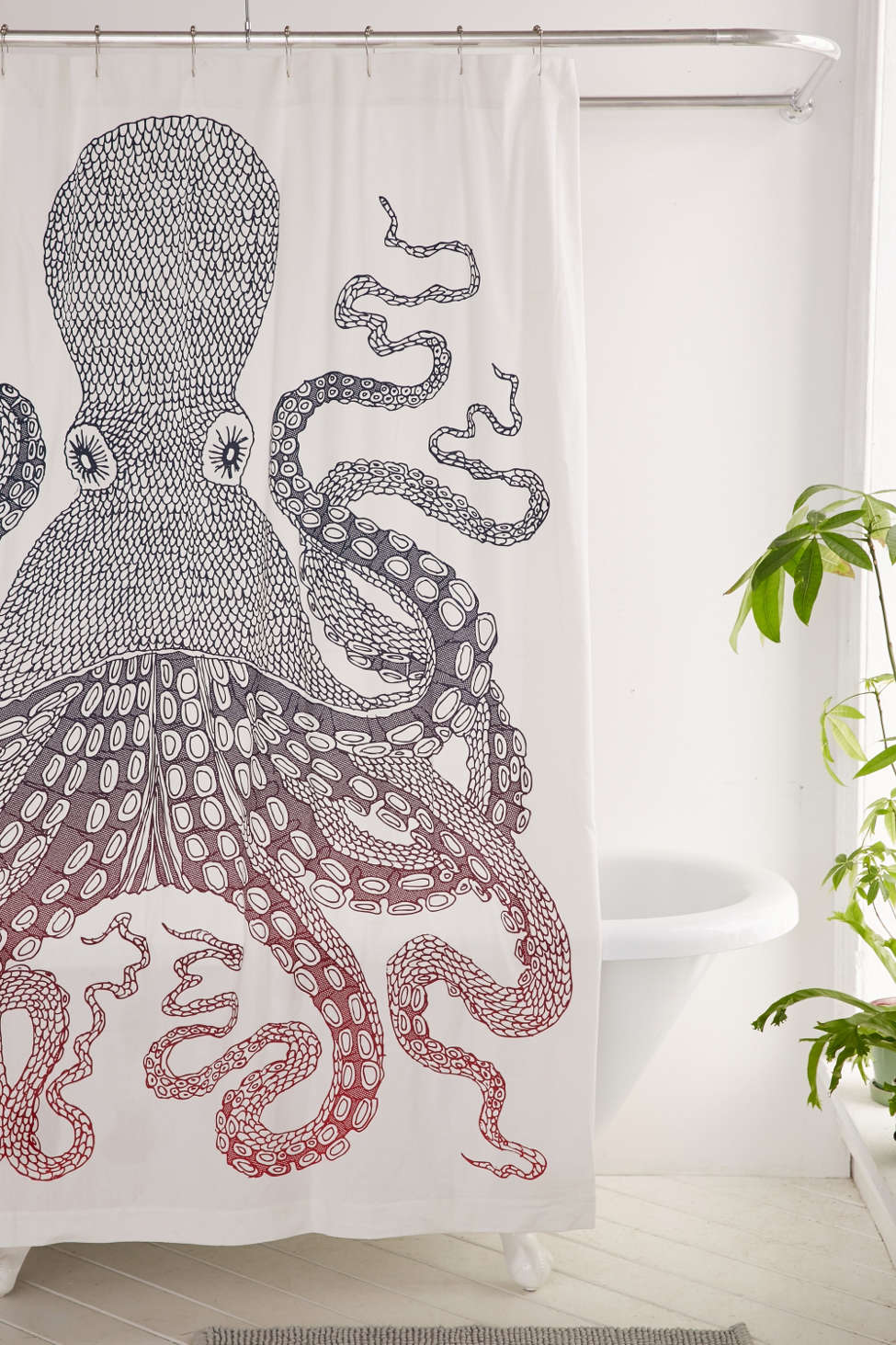 Slide View: 1: Nate Duval Giant Octopus Shower Curtain