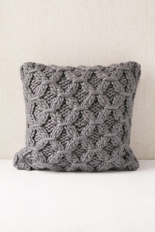 Cable Knit Pillow Urban Outfitters Canada