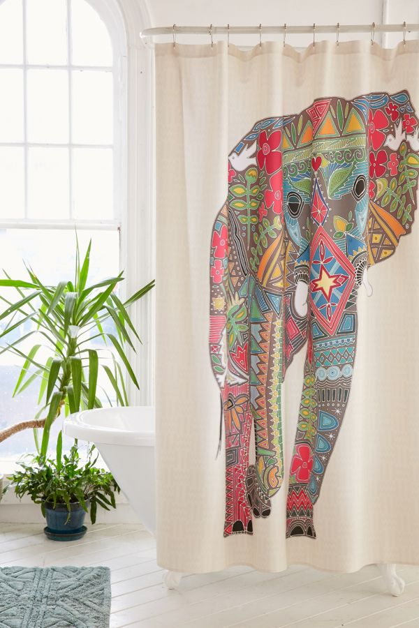 Your Urban Outfitters Gallery Sharon Turner For DENY Painted Elephant Shower Curtain