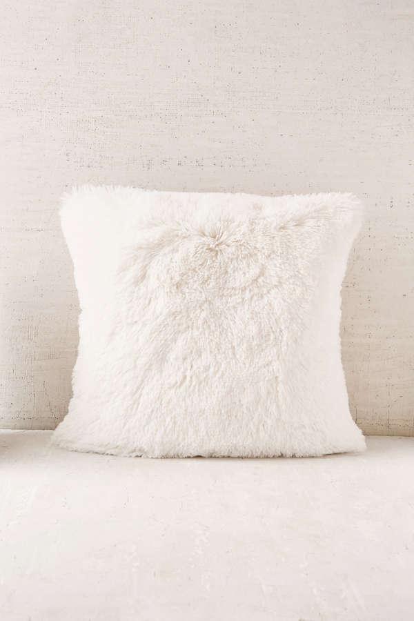 mongolian furniture products dania faux boras wh x pillow white fur