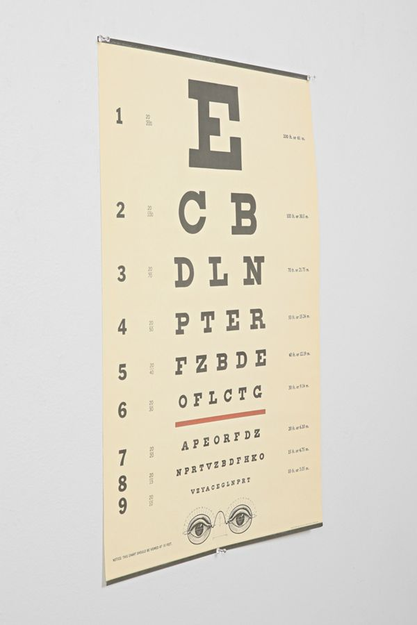 Eye Chart Poster Urban Outfitters