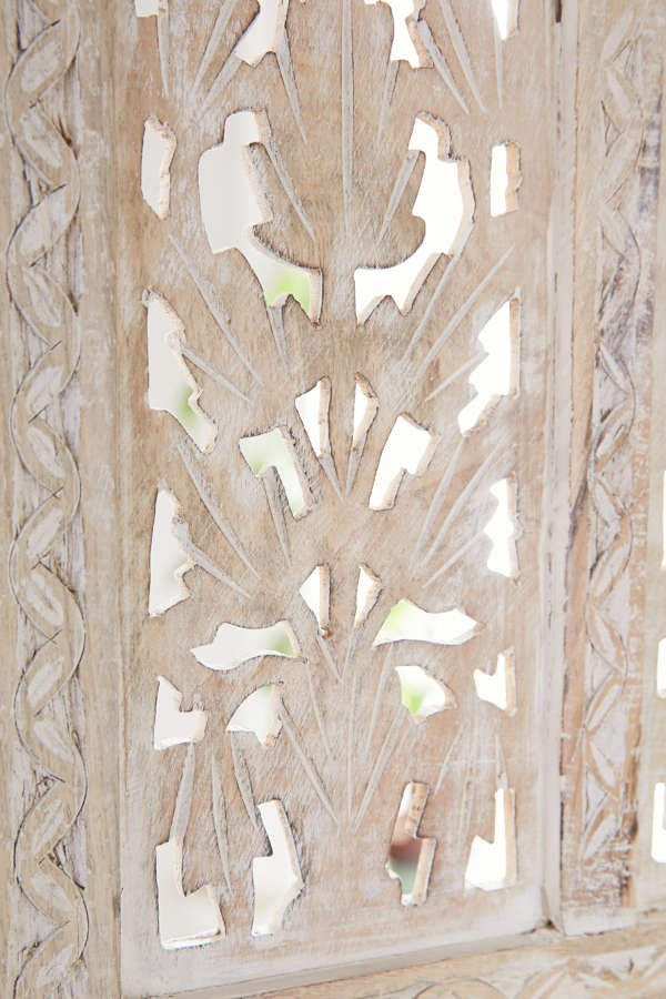 Slide View: 4: Amber Wooden Carved Screen