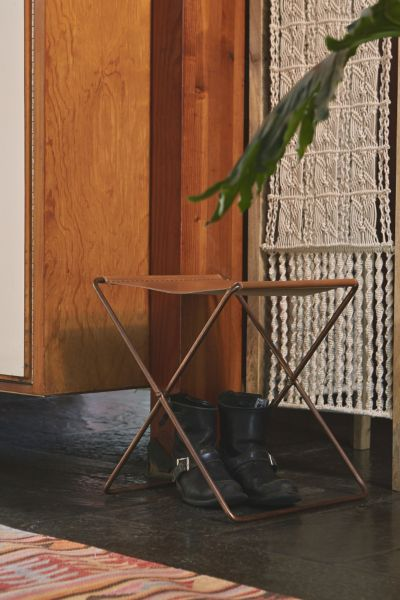 leather sling stool urban outfitters