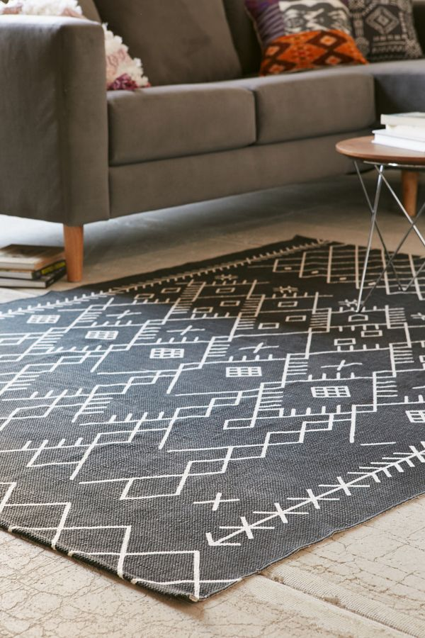 Printed Boucherouite Rug Urban Outfitters