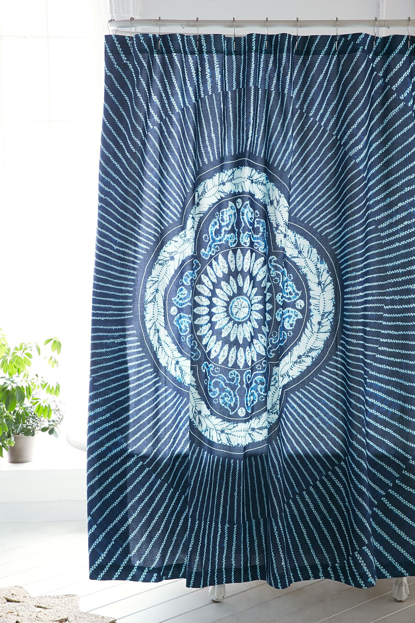 Magical Thinking Neela Batik Shower Curtain