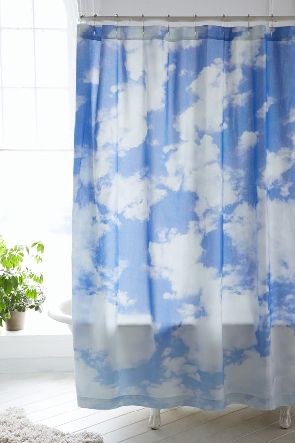 Allover Clouds Shower Curtain