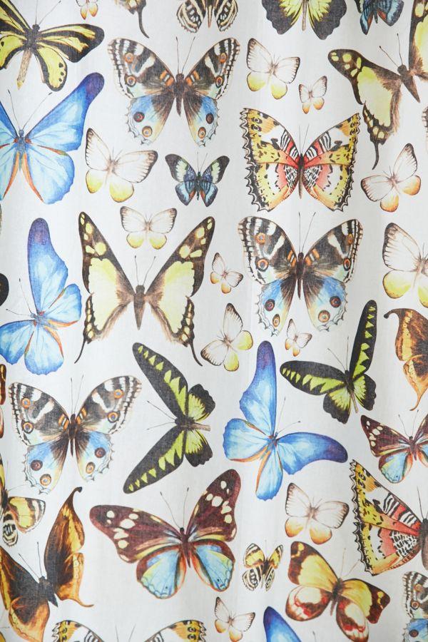Slide View 2 Plum Bow Entomology Butterflies Shower Curtain
