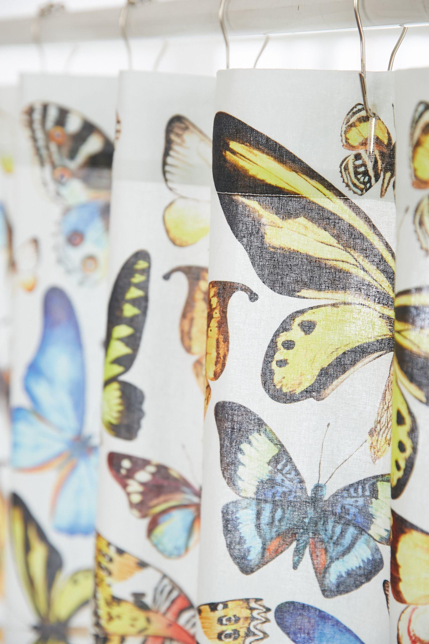 Slide View 3 Plum Bow Entomology Butterflies Shower Curtain