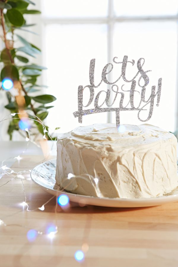 alexis mattox design lets party cake topper urban outfitters