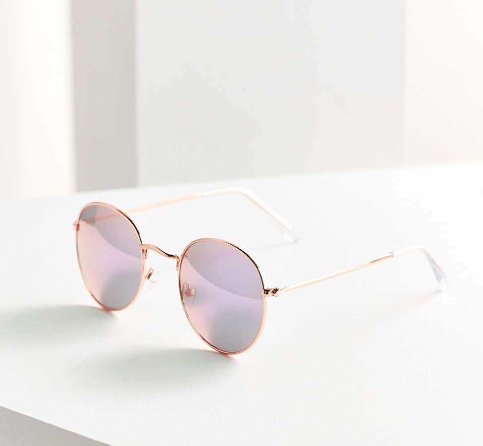 Slide View: 2: Dyllon Metal Round Sunglasses