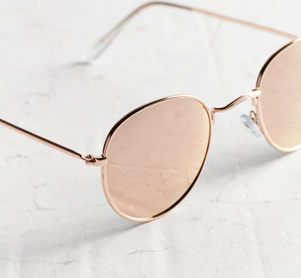 Slide View: 3: Dyllon Metal Round Sunglasses