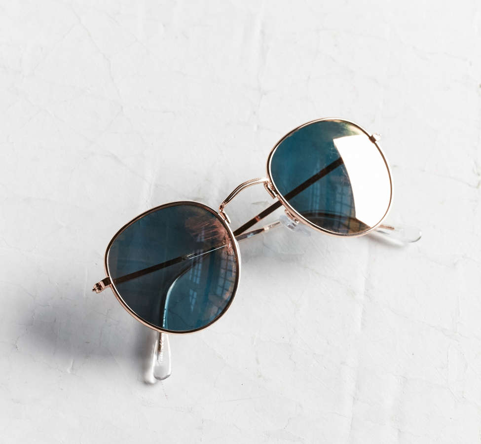 Slide View: 5: Dyllon Metal Round Sunglasses