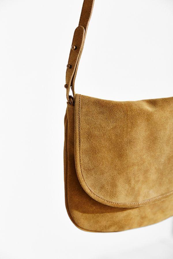 Slide View 4 Bdg Minimalist Suede Crossbody Bag