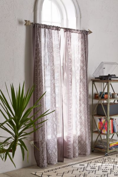 Bali ZigZag Curtain - Dark Grey 84