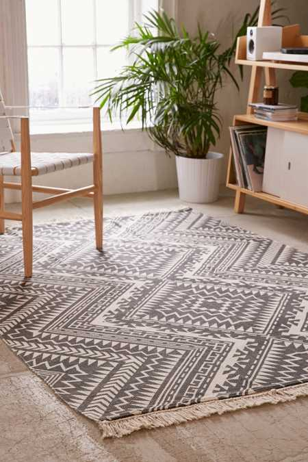 Tonal Diamond Printed Rug