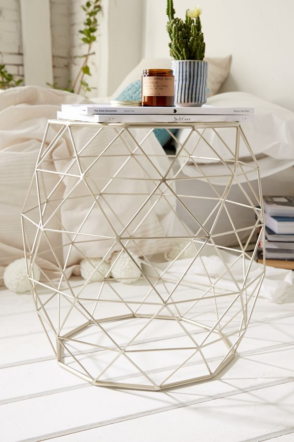 Geometric Metal Side Table Urban Outfitters