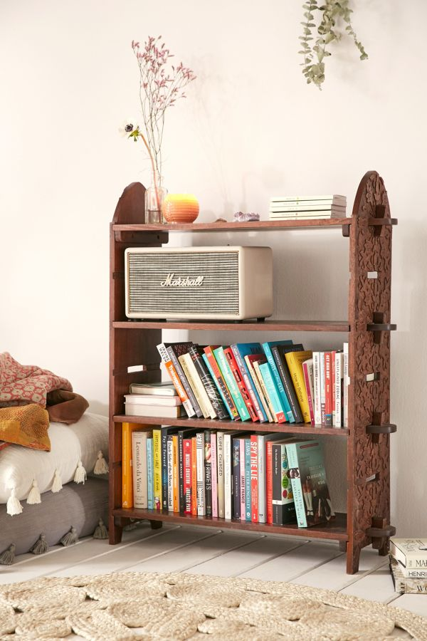Slide View 1 Aria Carved Bookshelf