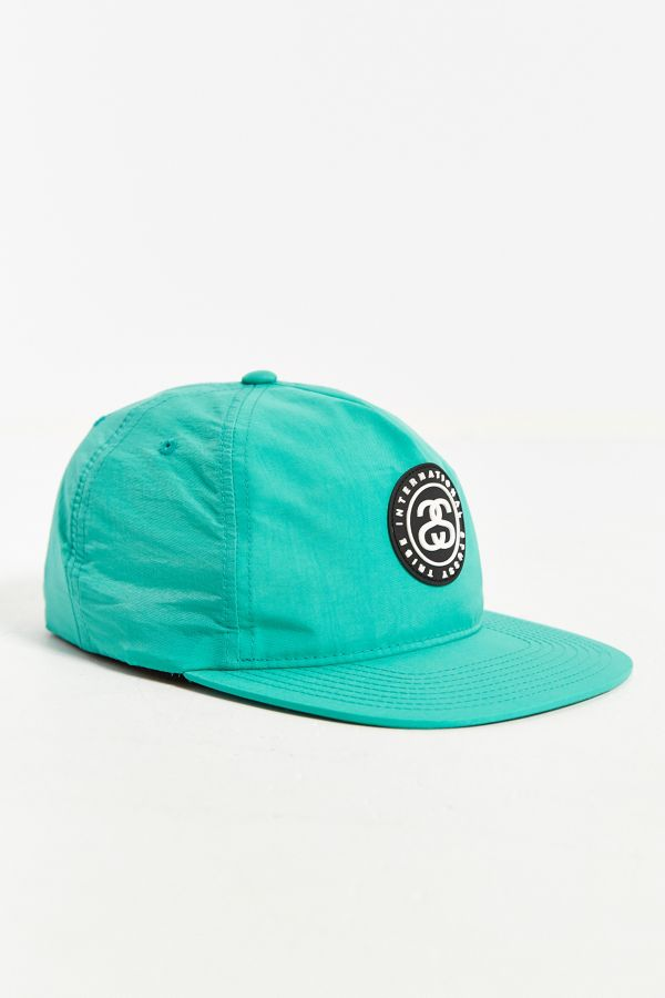 Stussy SS Link Rubber Patch Snapback Hat  1c693b44c46
