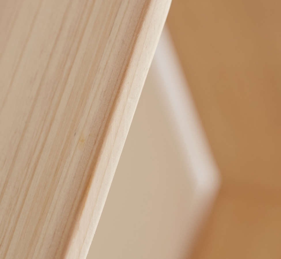 Slide View: 6: Honeycomb Wood Shelf