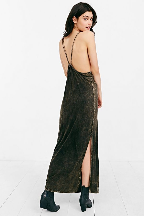 Staring At Stars Strappy Knit Maxi Dress Urban Outfitters