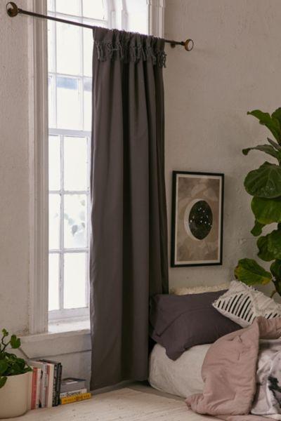Tassel Blackout Curtain - Grey - Grey 96