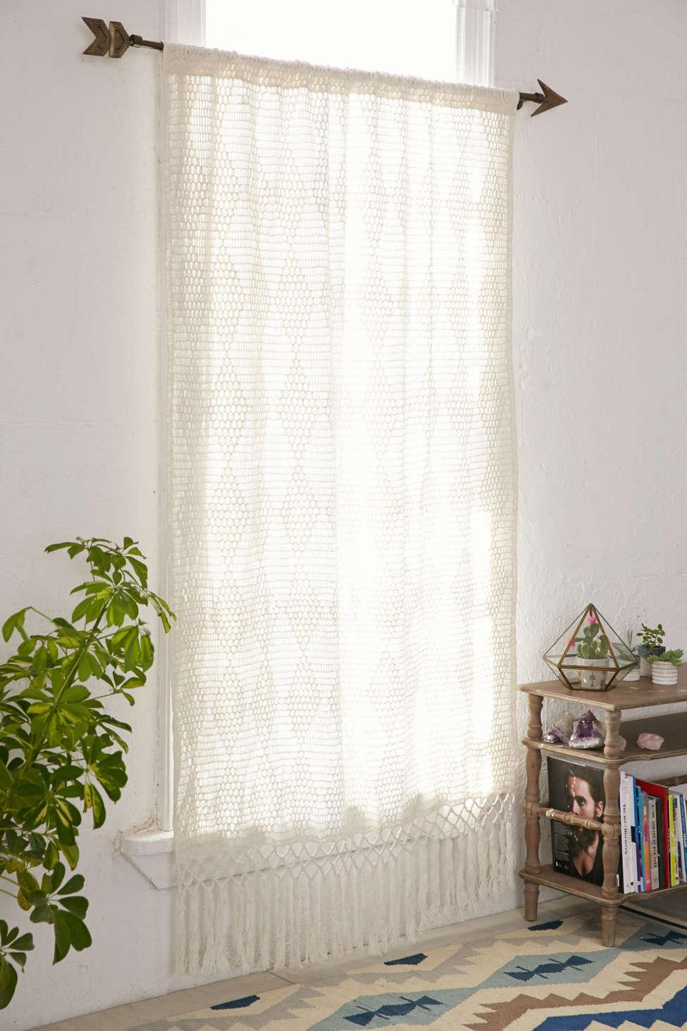 Slide View: 1: Pieced Crochet Curtain