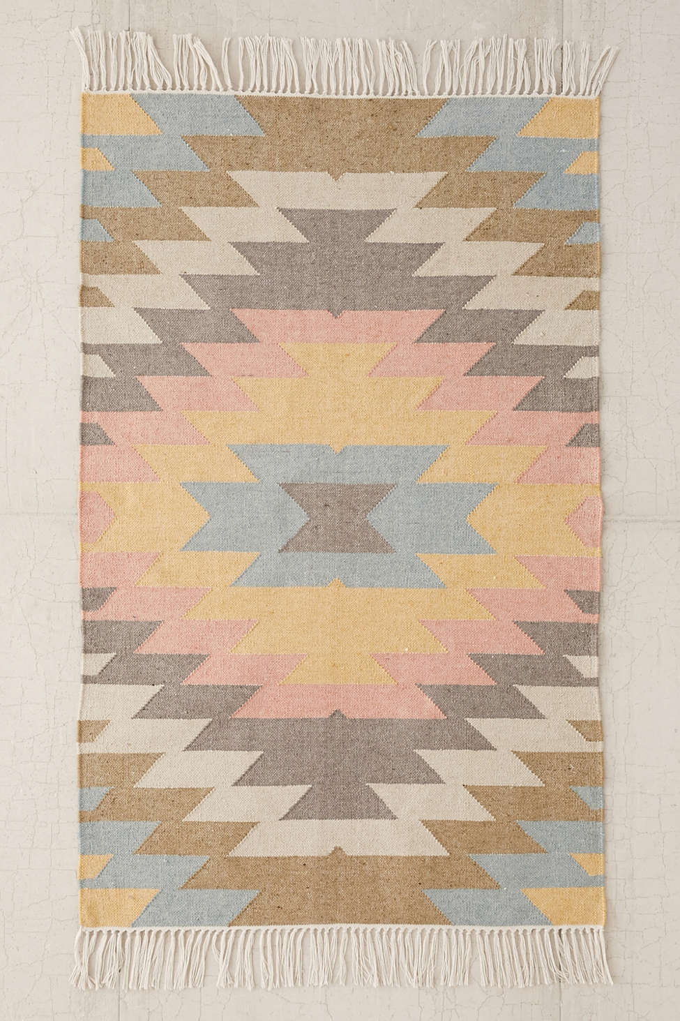 faded kilim indoor/outdoor woven rug | urban outfitters