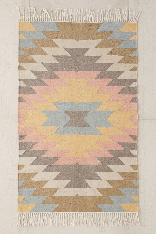 Faded Kilim Indoor Outdoor Woven Rug Urban Outfitters