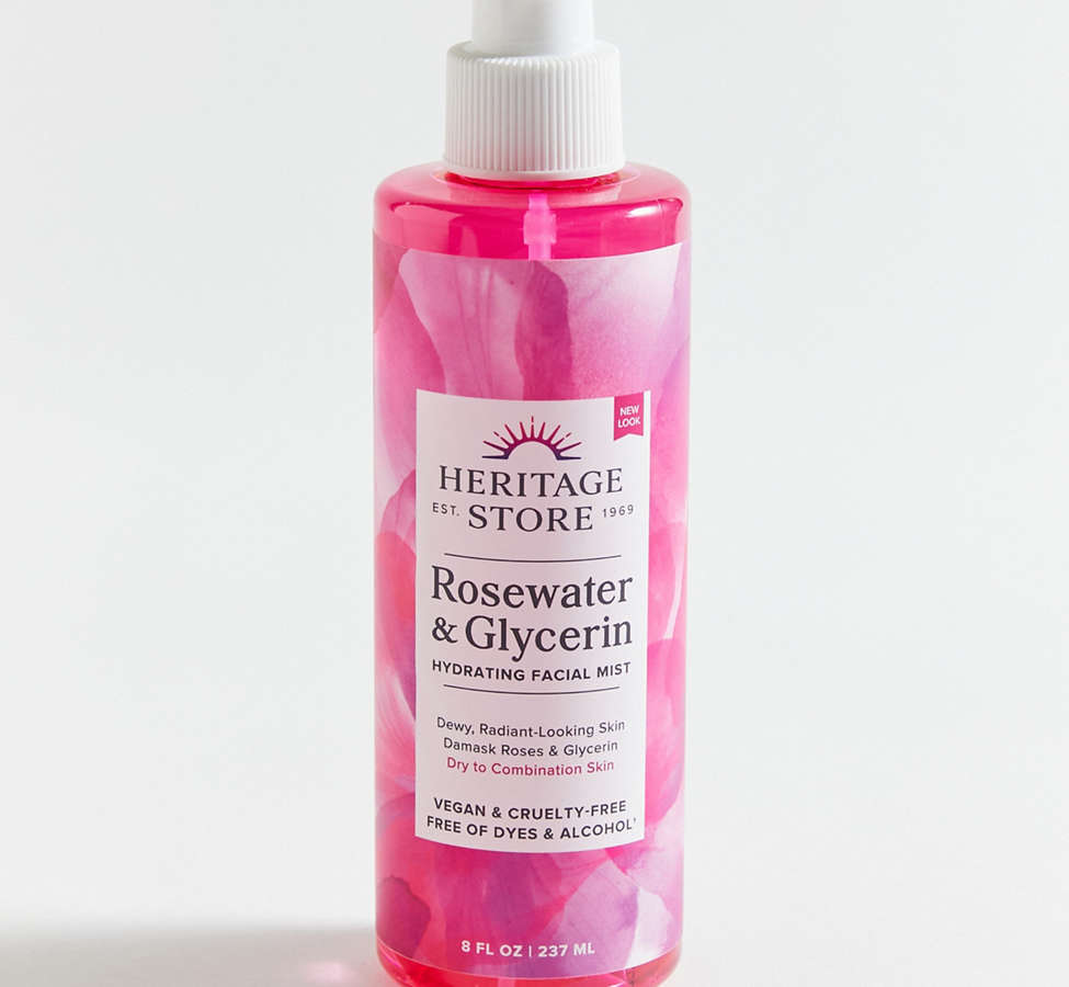 Slide View: 2: Heritage Store Rosewater & Glycerin Spray