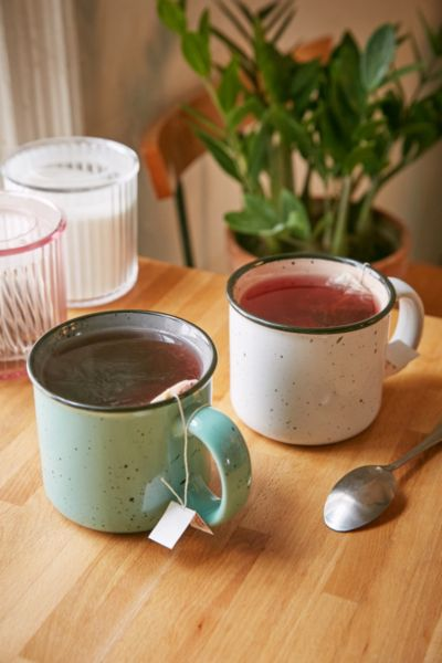Ceramic Enamel Mug - Mint One Size at Urban Outfitters