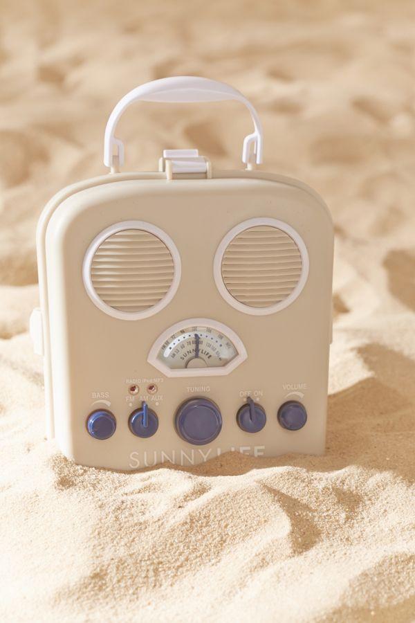 Sunnylife Beach Sounds Portable Radio And Speaker