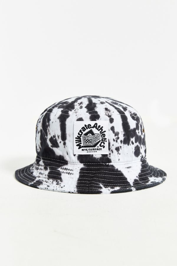 Milkcrate Athletics Black + White Tie-Dye Bucket Hat  e7f440bfc32