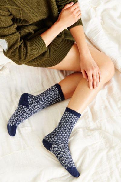 Birdseye Patterned Boot Sock