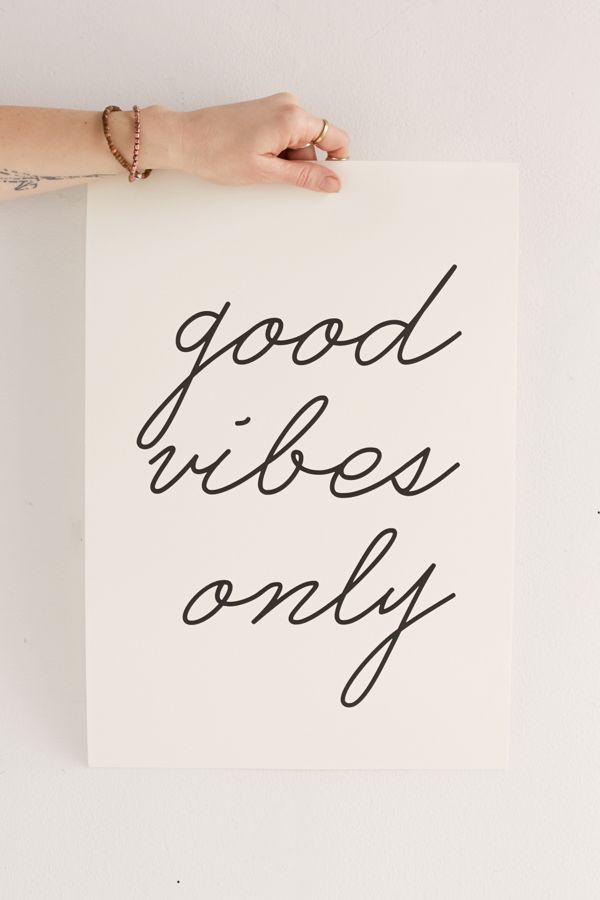letters on love good vibes only art print urban outfitters